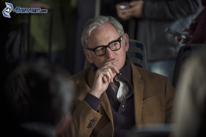 Victor Garber, man with glasses, look