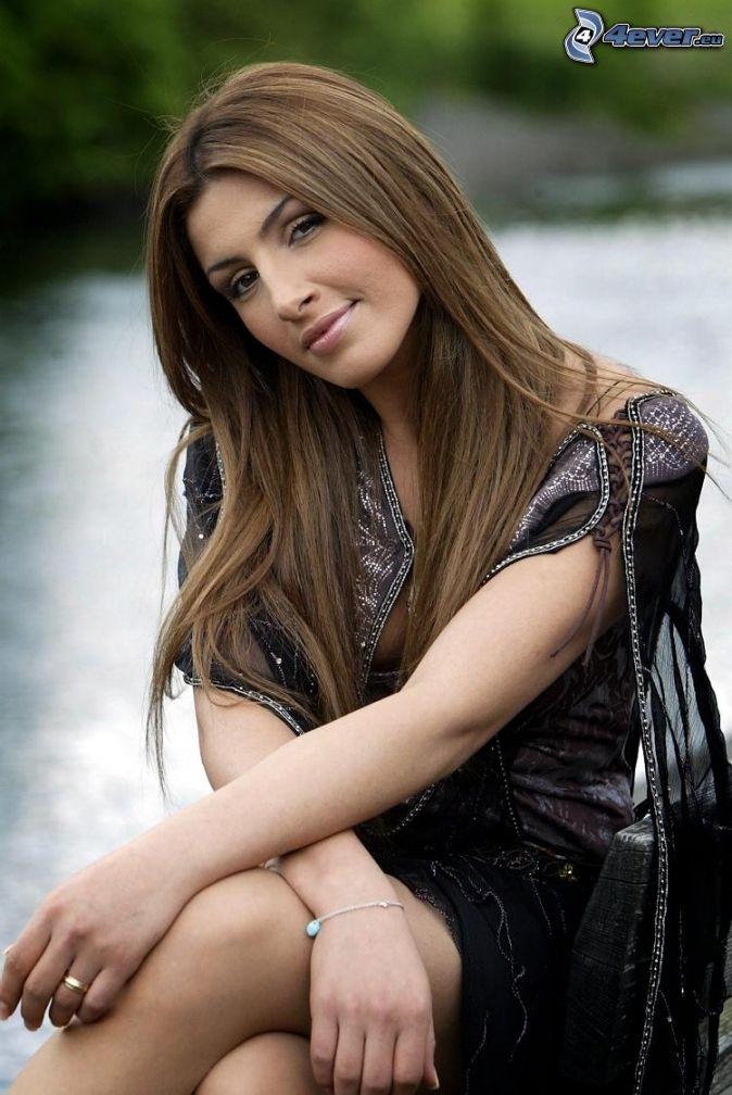 Helena Paparizou, black dress