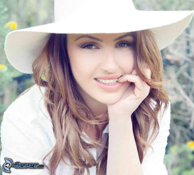 Helena Paparizou, hat, smile