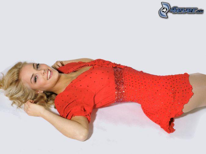 Kiira Korpi, red dress