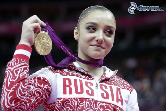 sportswoman, medal