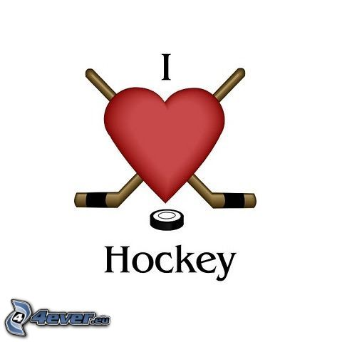I love hockey, heart