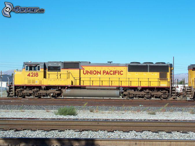 Union Pacific, locomotive, rails