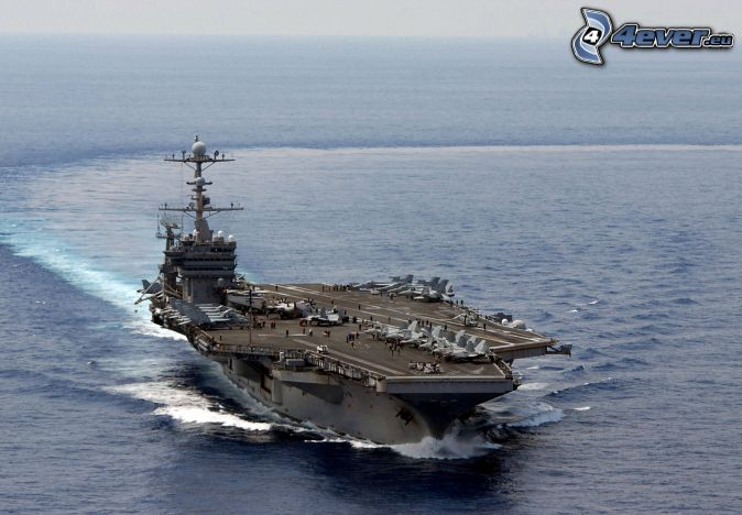 USS George Washington, aircraft carrier, open sea