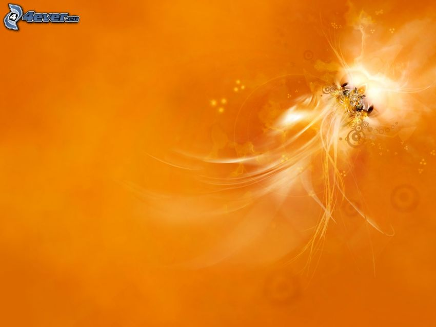 abstract, orange background