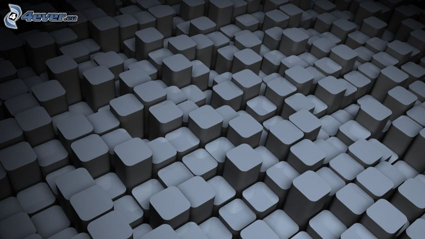 blocks, gray background