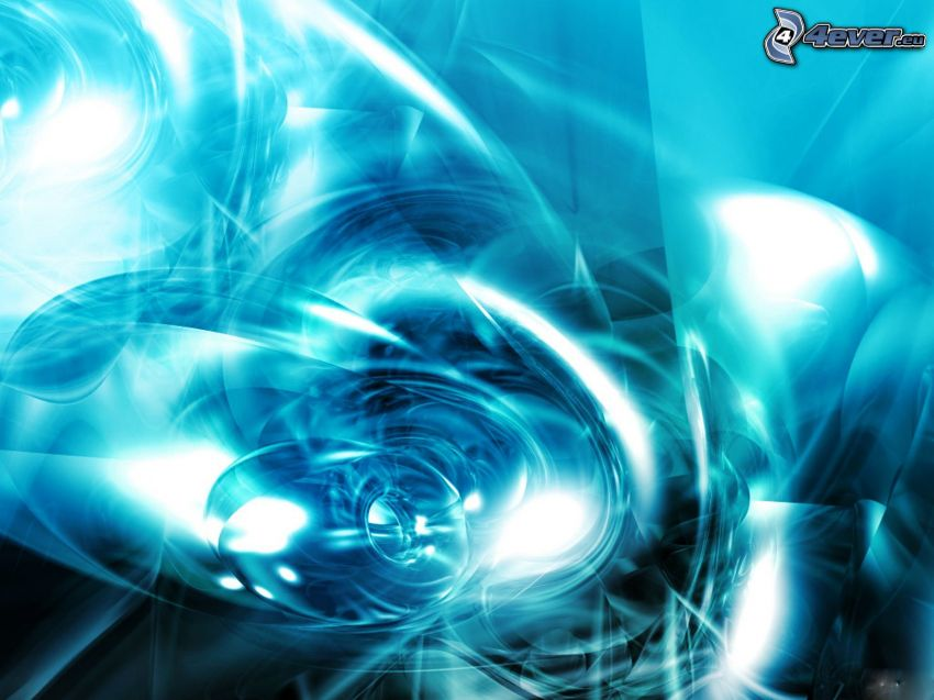 blue abstract wave