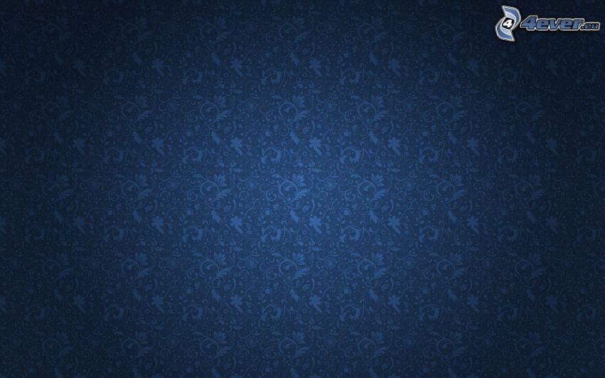 blue background, cartoon flowers