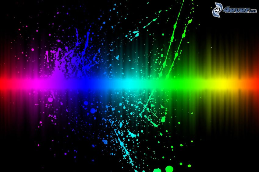 color abstraction, rainbow colors