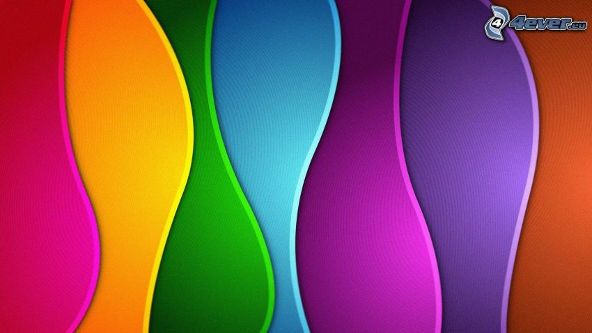 color wave, colorful background