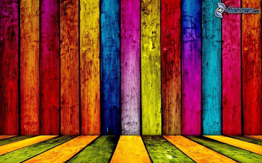 colored stripes, boards