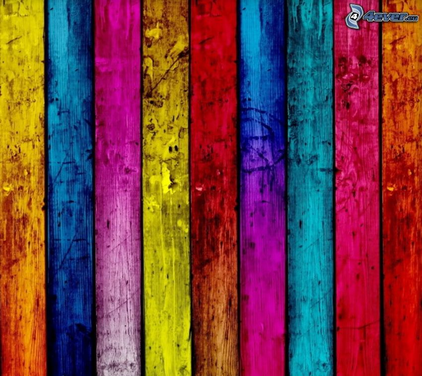 colored stripes, wood