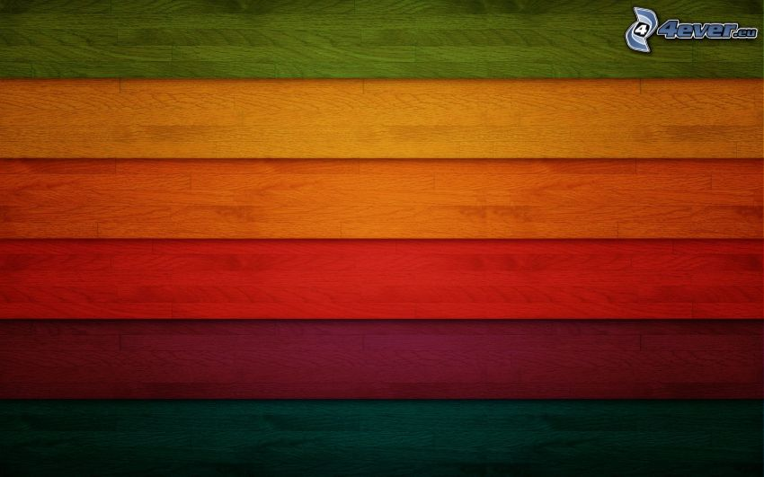 colored stripes, wooden wall