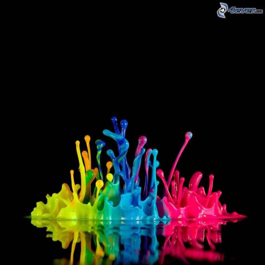 colors, splash