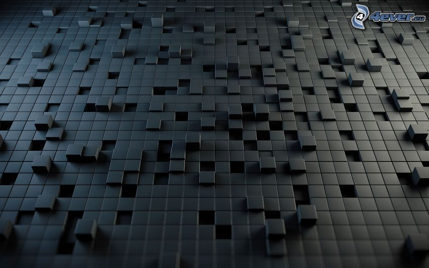 cubes, gray background