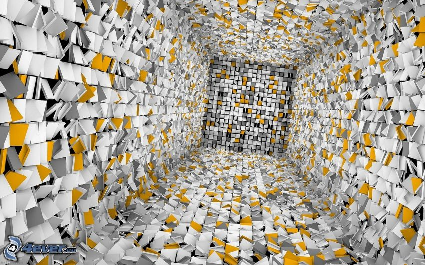 cubes, tunnel