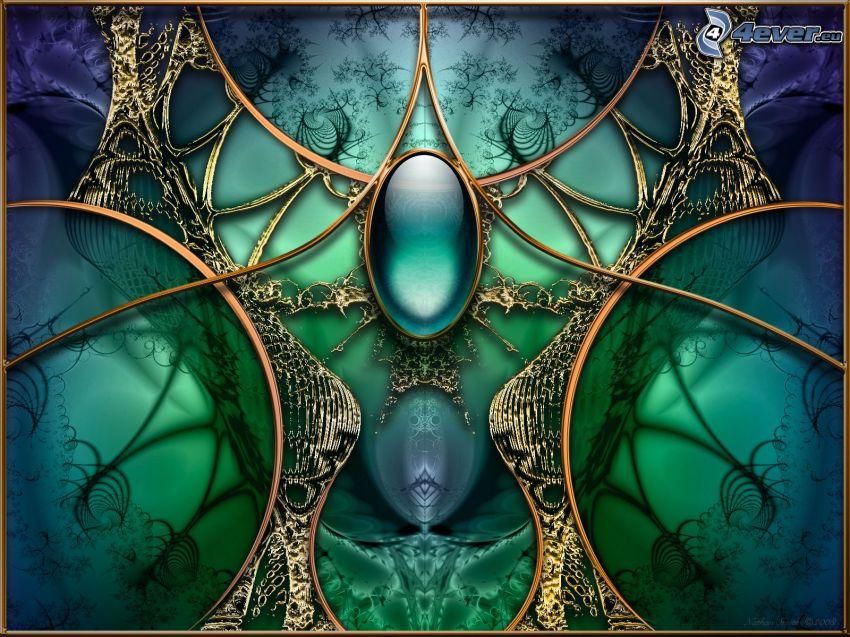 gemstone, green background