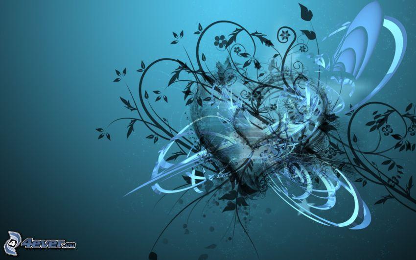 heart, plants, blots