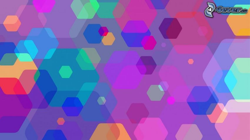 hexagons, colors