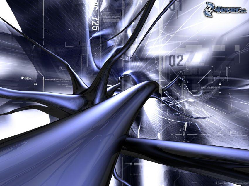 neurons, 3D