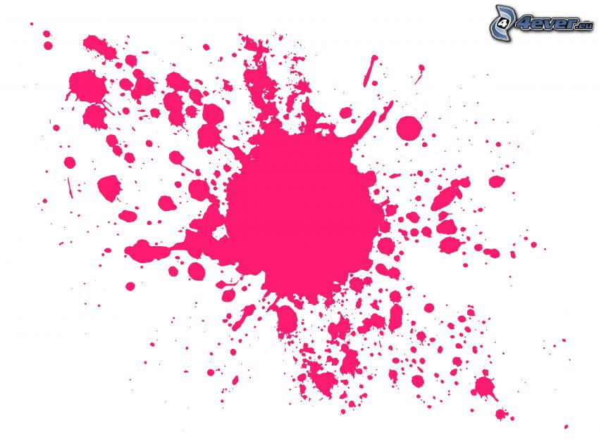 pink color, colored blob