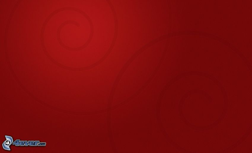red background, spiral