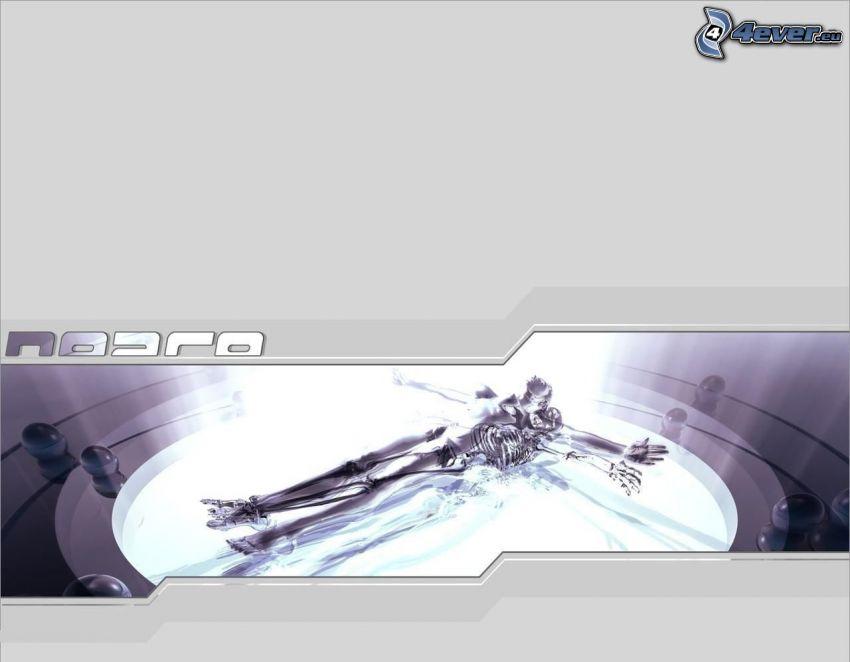 robot, skeleton
