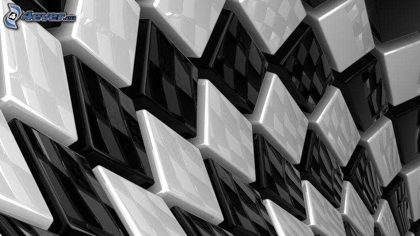 squares, cubes