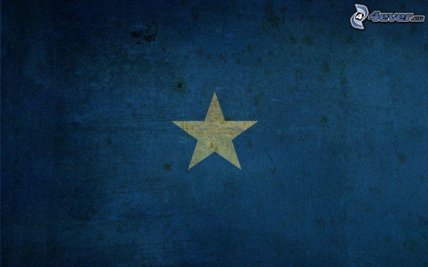 star, blue background