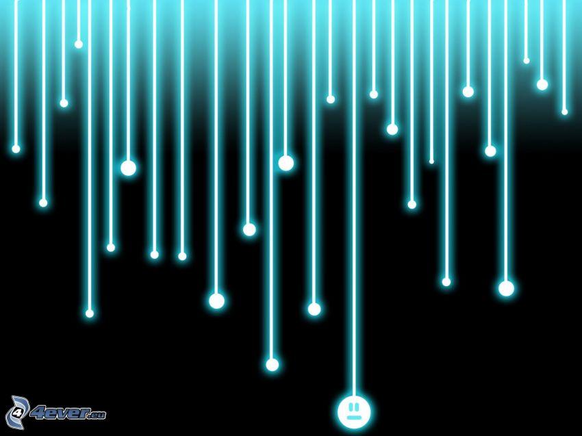 white stripes, turquoise stripes, smiley