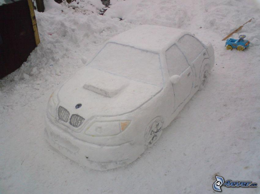 BMW, snow