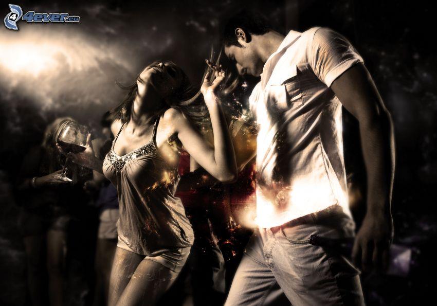 dance, couple