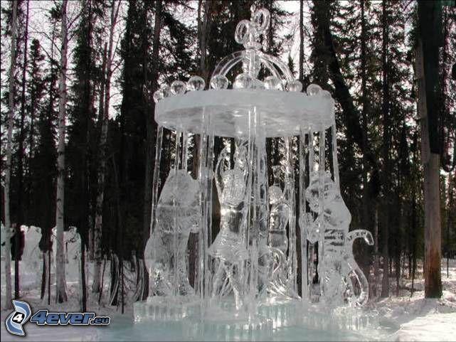 ice, art, sculptures