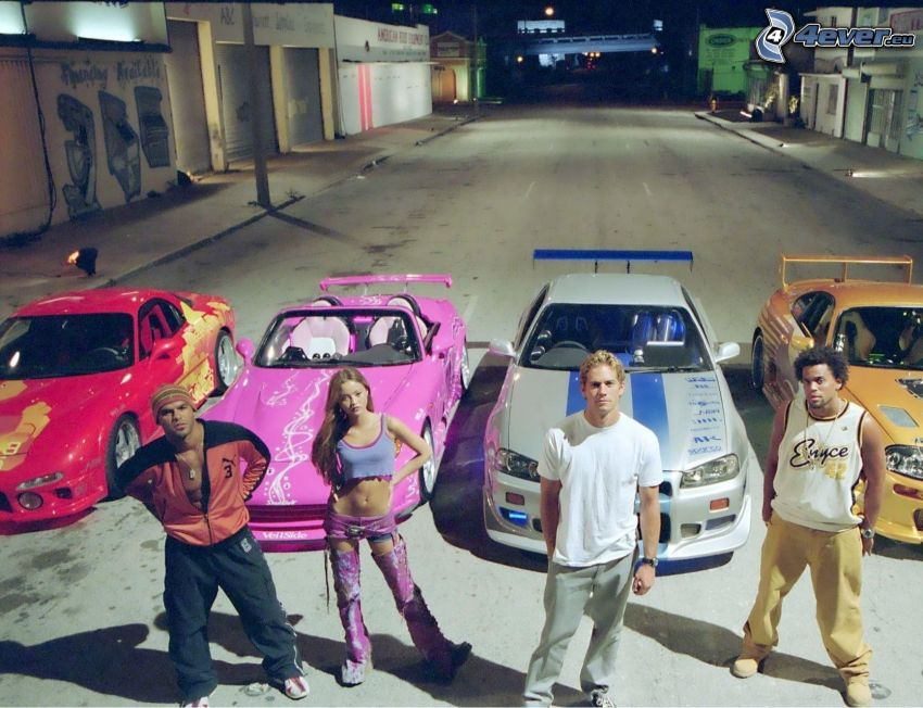 2 Fast 2 Furious, people, sports car, convertible