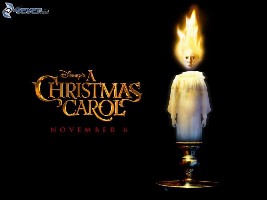 christmas carol candle