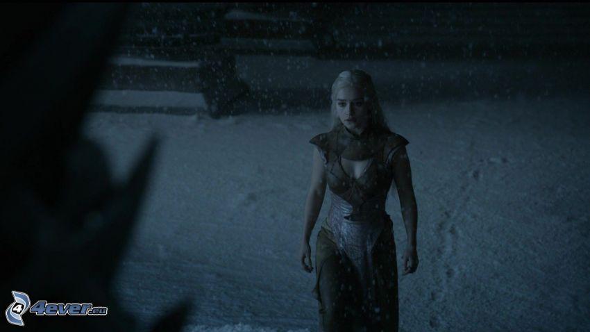 A Game of Thrones, Emilia Clarke, snow