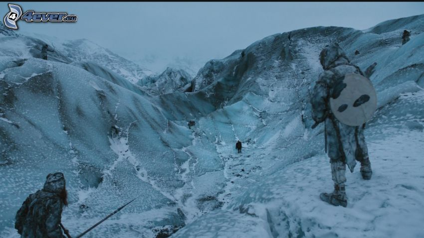 A Game of Thrones, mountains, snow
