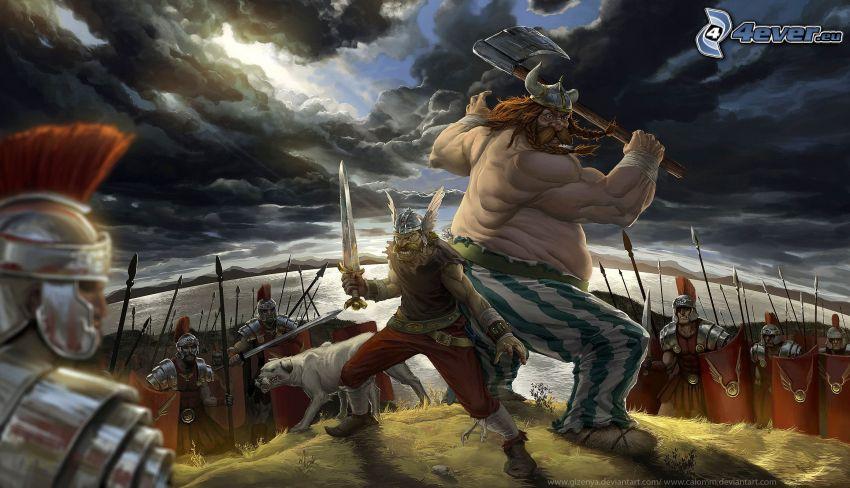 Asterix & Obelix, fight