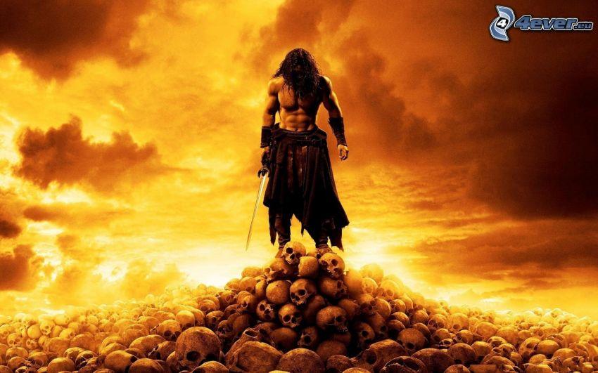 Barbar Conan, skulls