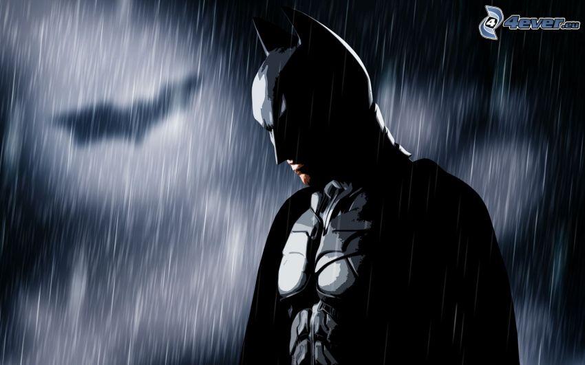 Batman, rain