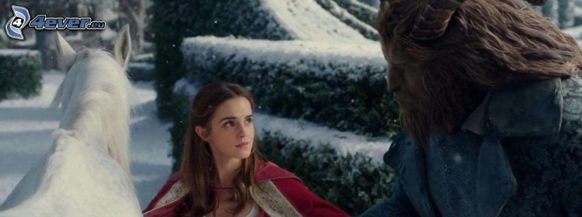 Beauty and the Beast, white horse, Emma Watson