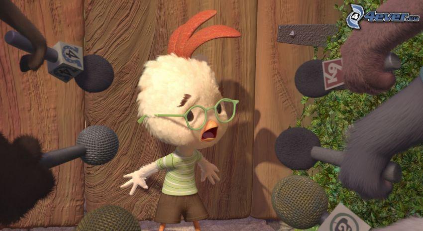 Chicken Little, microphone, fear