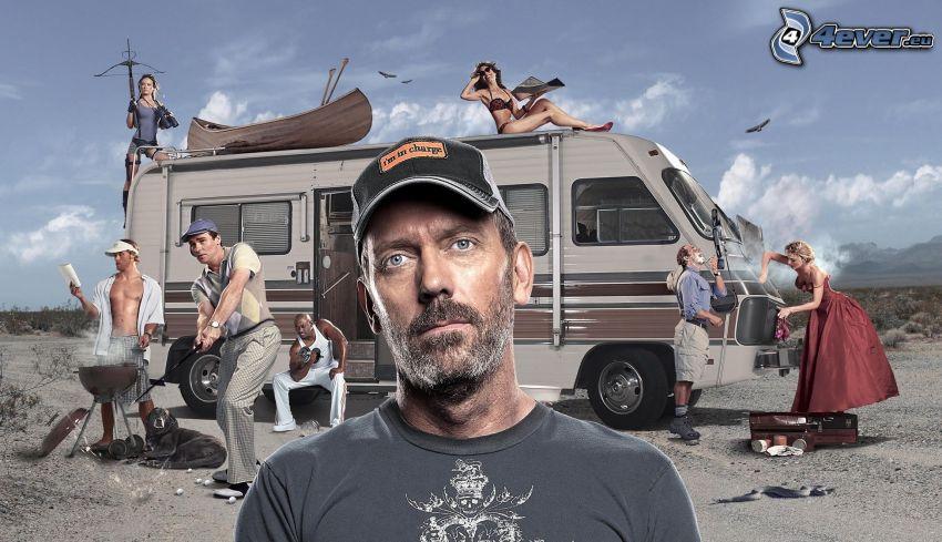 Dr. House, caravan