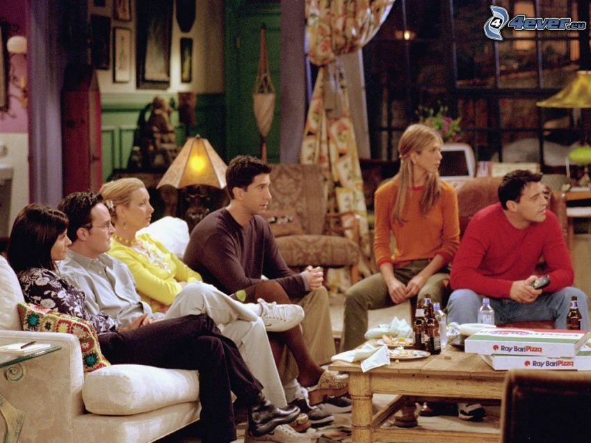 Friends, series, Jennifer Aniston, Courteney Cox, Matt LeBlanc, David Schwimer, Lisa Cudrow, Matthew Perry