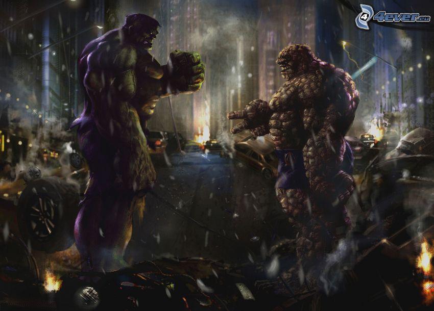 Hulk, stone, paper, scissors