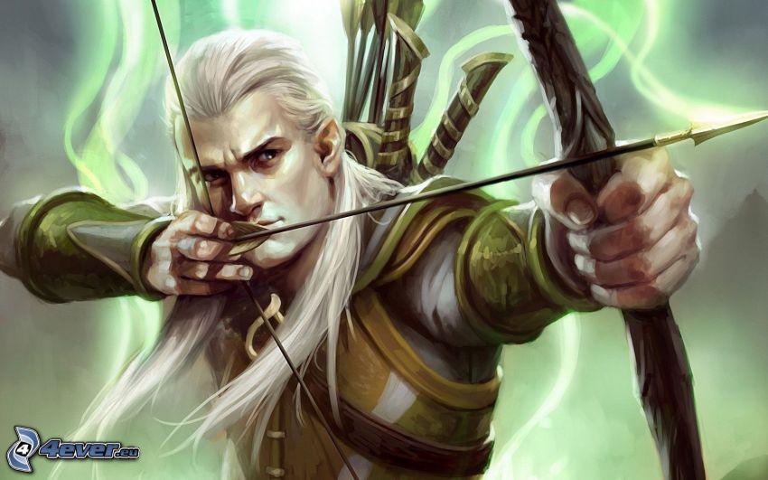Legolas, Lord of the Rings, bow, arrow