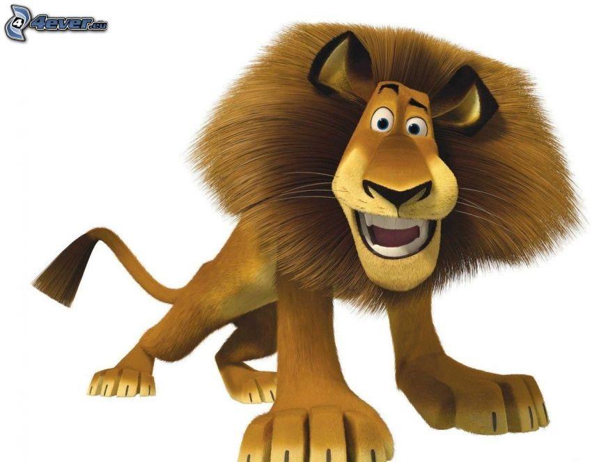 lion from Madagascar, cartoon lion
