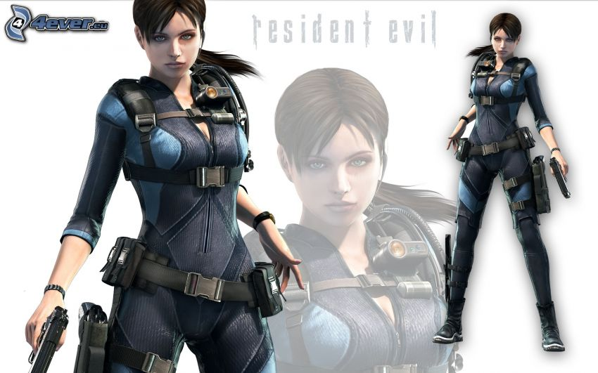 Resident Evil, woman with a gun