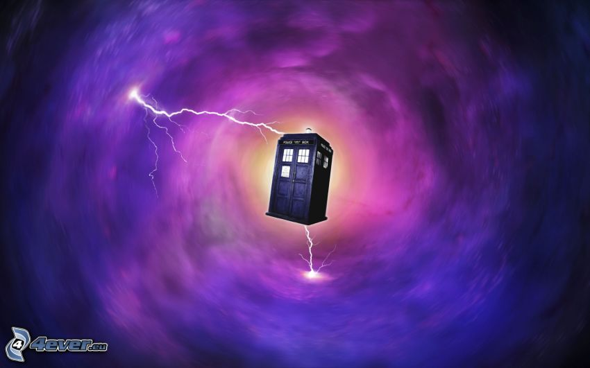 telephone booth, The Doctor, lightning