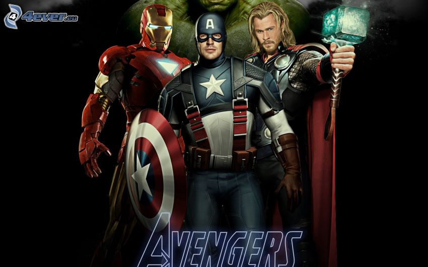 The Avengers, Iron Man, Captain America, Thor